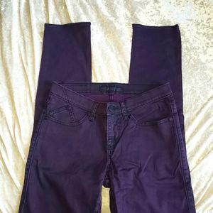 Rock & Republic purple skinny jeans